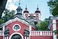 Calvary in old mining town Banska Stiavnica, blue filter