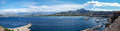 Calvi bay panorama panoramic view of from the old town Royalty Free Stock Photos