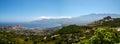 Calvi bay view from pointe de la revellata Stock Photo