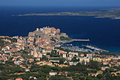 Calvi Citadel from above the Town Royalty Free Stock Photo