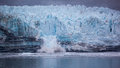Calving Glacier in Glacier Bay National Park Royalty Free Stock Photo