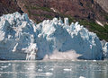 A Calving Margerie Glacier in Glacier Bay National Park Royalty Free Stock Photo