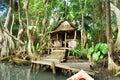 Calypso hut Royalty Free Stock Photo