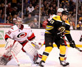 Cam Ward and Milan Lucic. Royalty Free Stock Photo