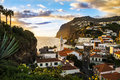 Camara de lobos madeira island the town of on the beautiful of portugal Royalty Free Stock Photos