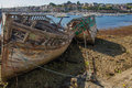 Camaret sur mer shipwrecks brittany france Stock Photography