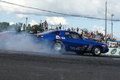 Camaro acceleration napierville dragway august picture of blue chevrolet during at john scotti all out event Stock Image
