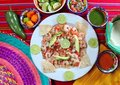Camaron shrimp ceviche raw seafood salad Mexico Stock Photo