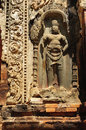 Cambodia Angkor Preah Ko temple carved guardian Royalty Free Stock Photography