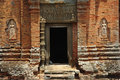Cambodia Angkor Roluos the Bakong temple entrance Royalty Free Stock Photography