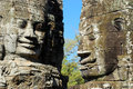 Smile face on Bayon temple Royalty Free Stock Photo