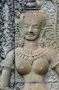 Cambodia Angkor Wat: Bas reliefs Royalty Free Stock Image