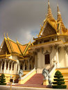 Cambodia capital grand palace a different colour after a tropical rain Stock Photography