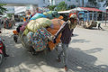 Cambodian Cart at Poipet Stock Photos