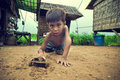 Cambodian kid playing Royalty Free Stock Photo