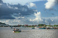 Cambodian people siem reap cambodia live beside tonle sap lake in siem reap cambodia on september this is the largest freshwater Royalty Free Stock Photography