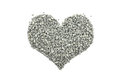Cambrian green small stones in a heart shape Royalty Free Stock Photo