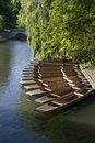 Cambridge punts Stock Photography