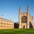 Cambridge University Kings College Royalty Free Stock Photography