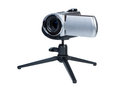 Camcorder on a small tripod Stock Image