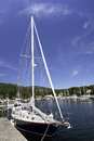 Camden harbor a perfect blue sky settles over pristine maine Royalty Free Stock Images