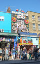 Camden high street shops london famous colourful shopping of town in north england a popular trendy destination for markets and Stock Photo