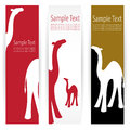 Camel banners vector image of an Stock Photography