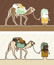 Camel colored cartoon Royalty Free Stock Photo