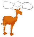 A camel with empty callouts illustration of on white background Stock Photo
