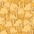 Camel herd pattern Stock Image