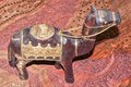 Camel souvenir in arabic style the arab made morocco Royalty Free Stock Photo