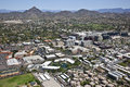 Camelback Corridor with Piestewa Peak Stock Photo