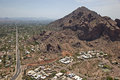 Camelback mountain and echo canyon trail during park upgrades Royalty Free Stock Image
