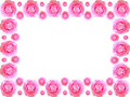 Camellia flower frame Royalty Free Stock Photo