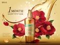 Camellia hair oil ad