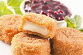 Camembert fried Royalty Free Stock Image