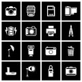 Camera accessory icons vector illustration eps Stock Images