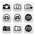 Camera buttons set take picture isolated on white Stock Photos