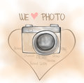 Camera classic love retro we love photo we can dream anything with love photo anything you want Royalty Free Stock Photo
