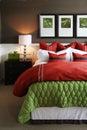 Camera da letto d'avanguardia Immagini Stock Libere da Diritti