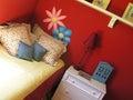 Camera da letto femminile Fotografia Stock Libera da Diritti