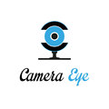 Camera eye logo template creative logo work Royalty Free Stock Photography