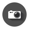 Camera flat vector icon.