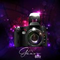 Camera in glamour background illustration of Royalty Free Stock Images