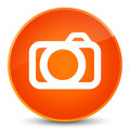 Camera icon elegant orange round button
