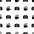 Camera icon seamless pattern Royalty Free Stock Photo