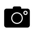 Camera icon on white background - vector iconic design