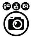 Camera icons Stock Image