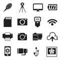 Ikony a příslušenství ikony vektor ilustrace