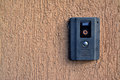 Camera intercom with on the wall Royalty Free Stock Photos